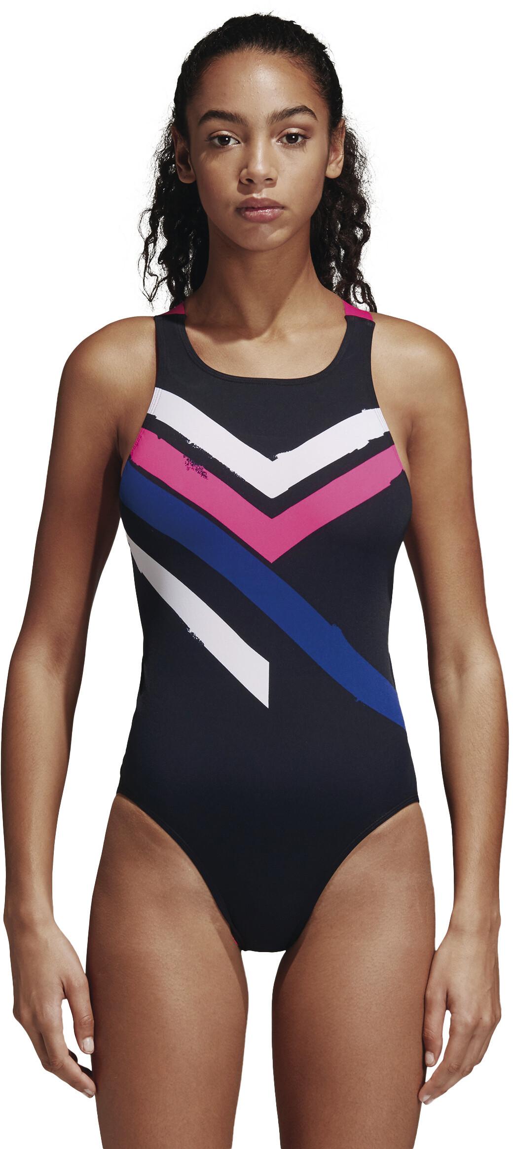 6f3c0752 adidas Placed Print Badedrakt Dame black/white/shock pink | Gode ...